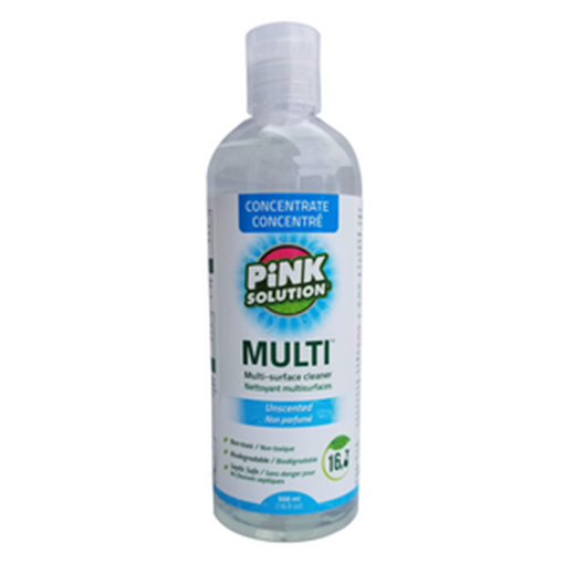 Picture of Pink Solution Multi All Purpose Cleaner Concentrate Unscented, 500ml