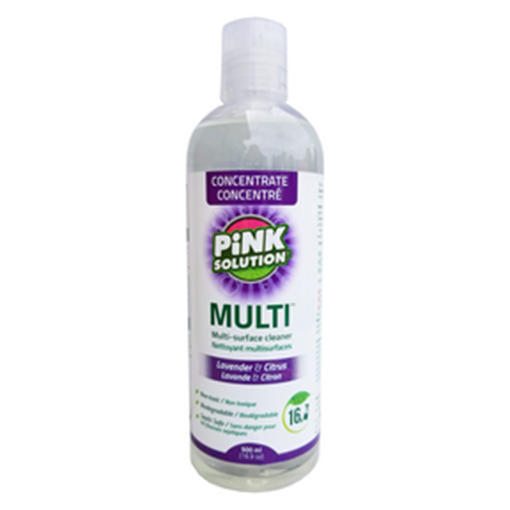 Picture of Pink Solution Multi All Purpose Cleaner Concentrate Lavender & Citrus, 500ml