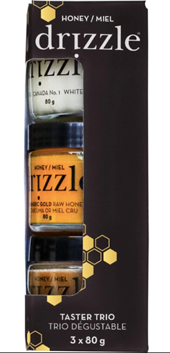 Picture of Drizzle Honey Taster Trio Honey Mini, 3 x 80g