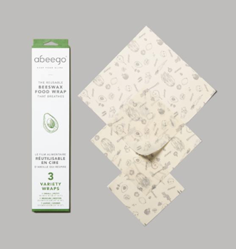 Picture of Abeego Reusable Beeswax Food Wrap, Variety 3 sz pk