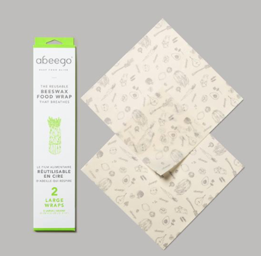 Picture of Abeego Large Reusable Beeswax Food Wrap, 2pk