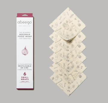 Picture of Abeego Small Reusable Beeswax Food Wrap, 6pk