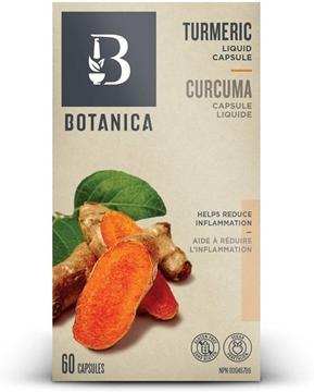 Picture of Botanica Turmeric Liquid Capsule, 60 Capsules