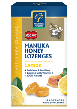 Picture of  Manuka Honey & Lemon Lozenges MGO 400 Silver MGO 250 65g