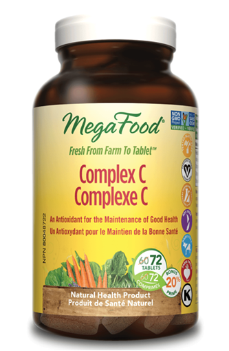 Picture of MegaFood Complex C, 72 tabs
