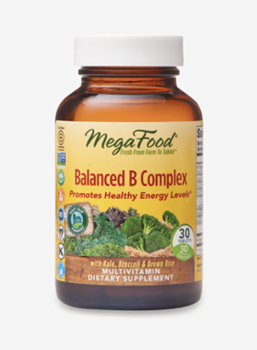 Picture of MegaFood Balanced B Complex, 30 tabs