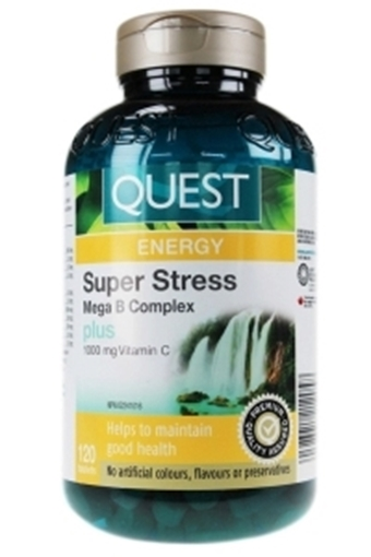 Picture of Quest - The Quest for Health Super Stress B Complex Plus Vitamin C 1000mg, 120 Tablets