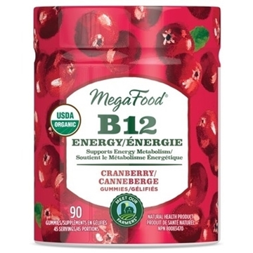 Picture of  Gummy B12 Energy - Cranberry, 90 Gummies
