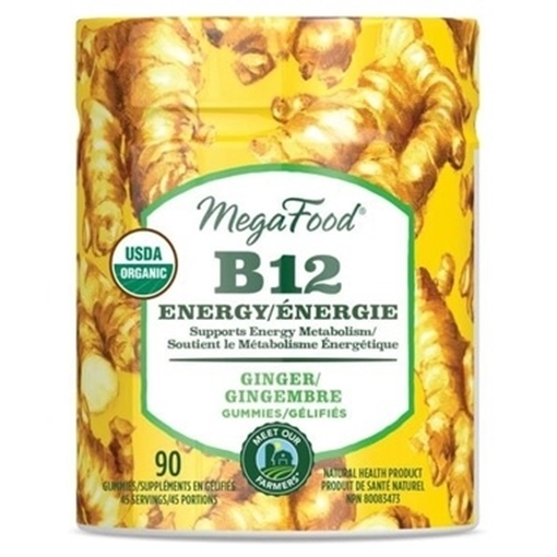 Picture of MegaFood B12 Energy Ginger Gummies, 90ct