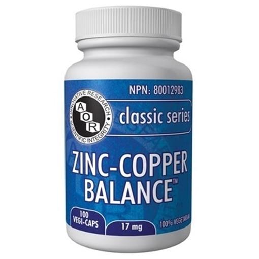 Picture of AOR Zinc-Copper Balance,  100 Vegi-Capsules