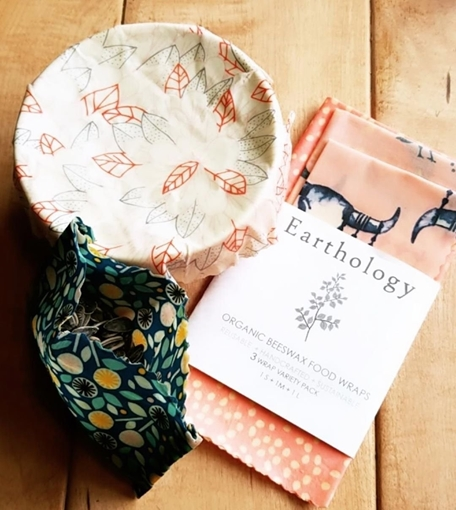 Picture of Earthology Beeswax 3 Wrap Snack Pack