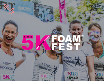Picture of  5K Foam Fest. Toronto, ON. Saturday August 15th, 2020