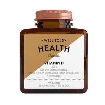 Picture of Well Told Health Vitamin D, 62 Vegan Capsules