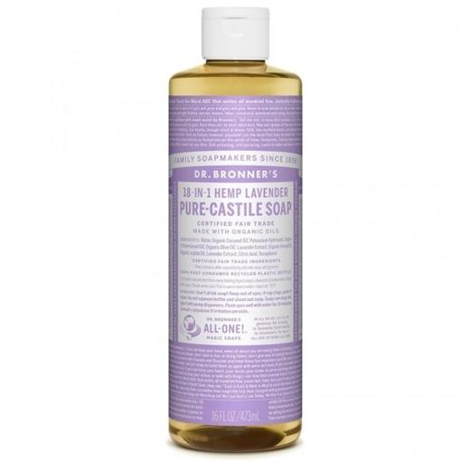 Picture of Dr. Bronner Pure-Castile Liquid Soap, Lavender 473ml