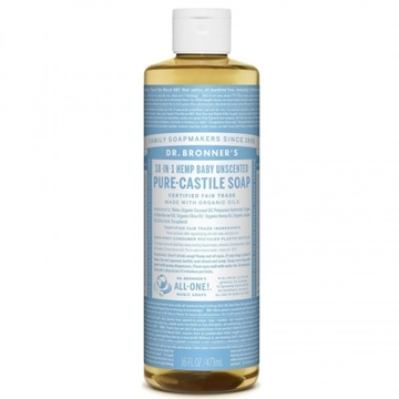 Picture of Dr. Bronner Pure-Castile Liquid Soap, Baby Unscented 473ml
