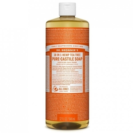 Picture of Dr. Bronner Pure-Castile Liquid Soap, Tea Tree 473ml