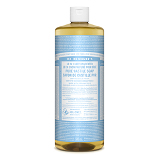 Picture of Dr. Bronner Dr. Bronner's Baby-Unscented Pure-Castile Liquid 946ml