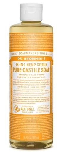 Picture of Dr. Bronner Pure-Castile Liquid Soap, Citrus 473ml