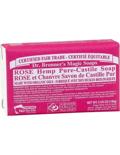 Picture of Dr. Bronner Bar Soap, Rose 140g
