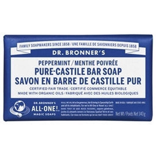 Picture of Dr. Bronner Bar Soap, Peppermint 140g