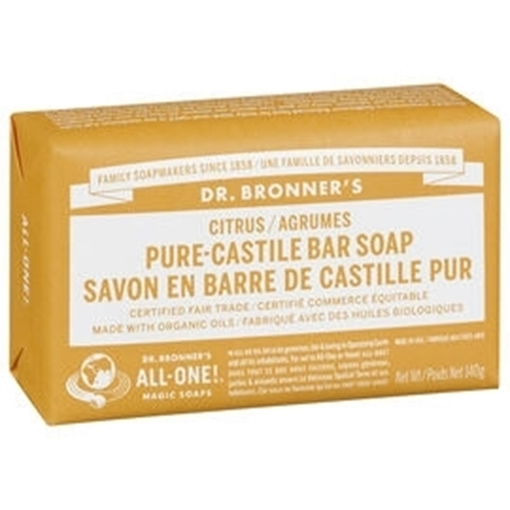 Picture of Dr. Bronner Bar Soap, Citrus 140g
