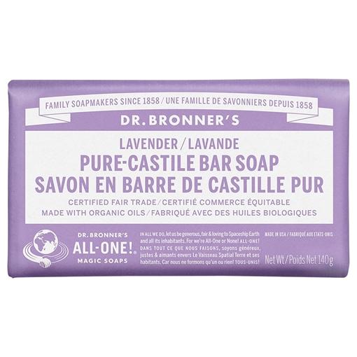 Picture of Dr. Bronner Bar Soap, Lavender 140g