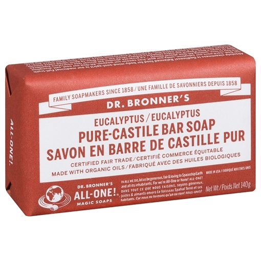 Picture of Dr. Bronner Bar Soap, Eucalyptus 140g