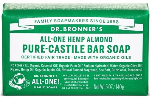 Picture of Dr. Bronner Bar Soap, Almond 140g