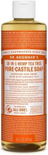 Picture of Dr. Bronner 18-In-1 Pure-Castile Hemp Liquid Soap Tea Tree, 473ml