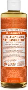 Picture of Dr. Bronner Pure-Castile Liquid Soap, Tea Tree 473ml