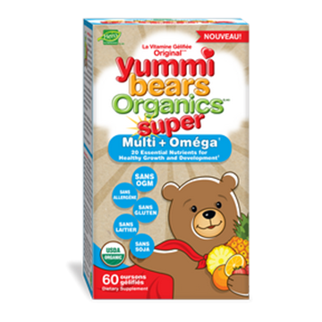 Picture of  Yummi Bears Super Multi Vitamin with Omega 3 Gummies, 60 ct