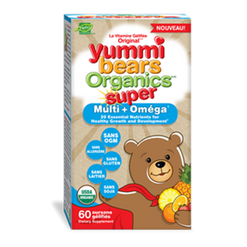 Picture of Hero Nutritionals Yummi Bears Super Multi Vitamin with Omega 3 Gummies, 60 ct
