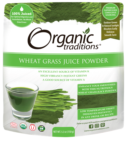 Picture of Organic Traditions Wheat Grass Juice Powder, 150g