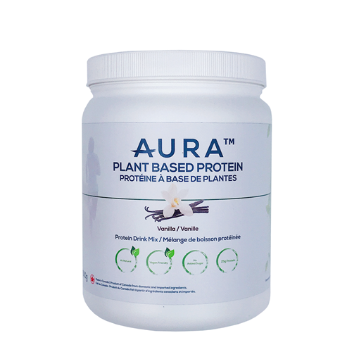 Picture of Aura Plant-Based Protein Powder, Vanilla 500g