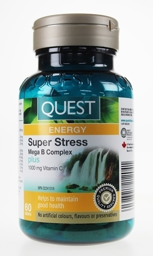 Picture of Quest Super Stress B Complex Plus Vitamin C 1000mg, 120 Tablets