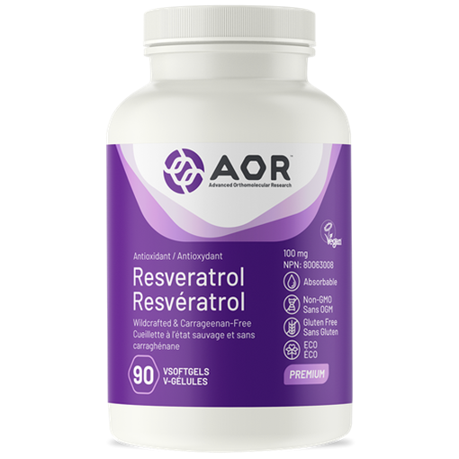 Picture of AOR Resveratrol, 90 Softgels