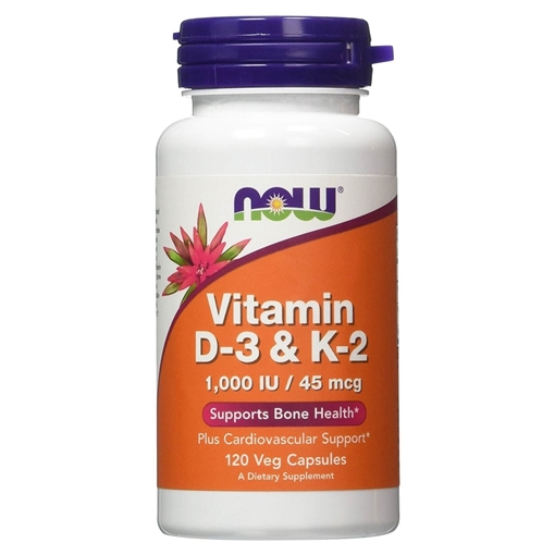 Picture of NOW Foods Vitamin D-3 & K2, 120 caps