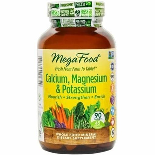 Picture of MegaFood Calcium, Magnesium & Potassium, 60 tabs