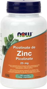 Picture of  Zinc Picolinate 25mg, 100vcap