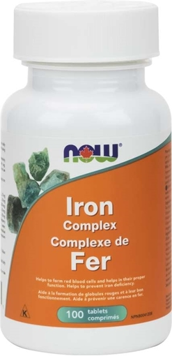 Picture of NOW Foods Iron Complex, 100 tabs