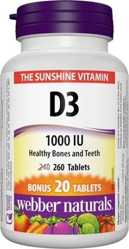 Picture of Webber Naturals Vitamin D3, 260 tabs