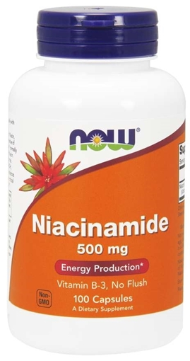 Picture of NOW Foods Niacinamide (B-3), 500mg/100 Caps