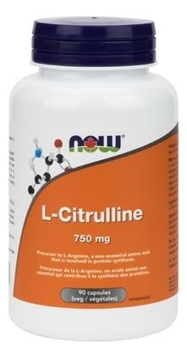 Picture of NOW Foods L-Citrulline, 750mg/90 caps