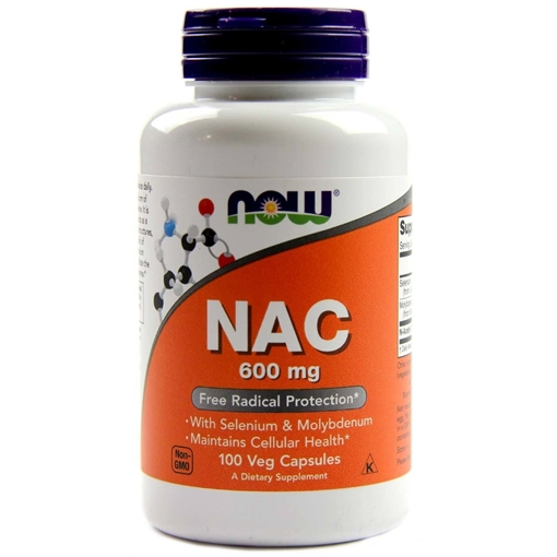 Picture of NOW Foods NAC, 600mg/100 caps