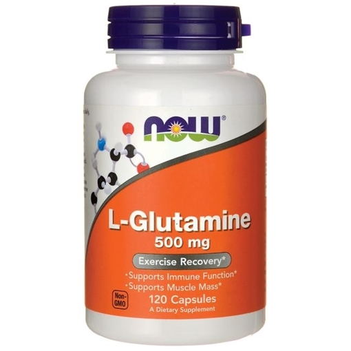 Picture of NOW Foods L-Glutamine, 500mg/120 caps