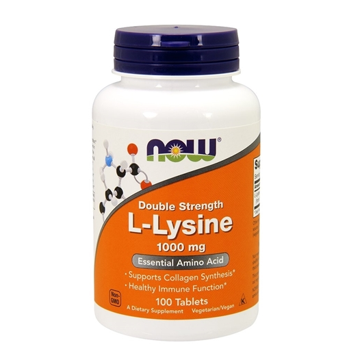 Picture of NOW Foods L-Lysine Extra Strength, 1000mg /100 tabs