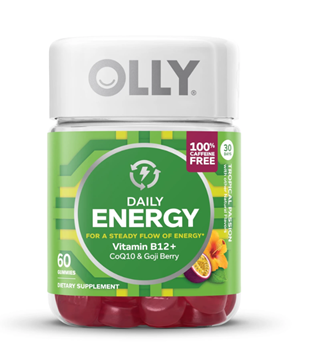 Picture of  OLLY Daily Energy - Caffeine Free Tropical Passion, 60 Gummies