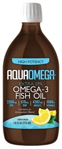 Picture of AQUAOMEGA Omega-3 Fish Oil Lemon, 225ml