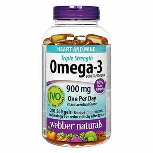 Picture of Webber Naturals Triple Strength Omega-3, 900mg/120 softgels