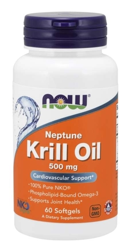 Picture of NOW Foods Neptune Krill Oil, 500mg/60 softgels